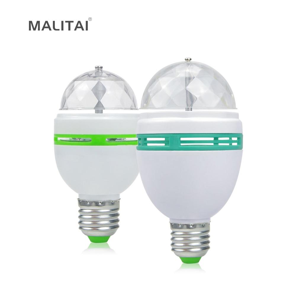 1pcs 3w 6w rgb led lamp e27 ac 110v 220v auto rotating stage lights magic ball bulb for home dj. Black Bedroom Furniture Sets. Home Design Ideas