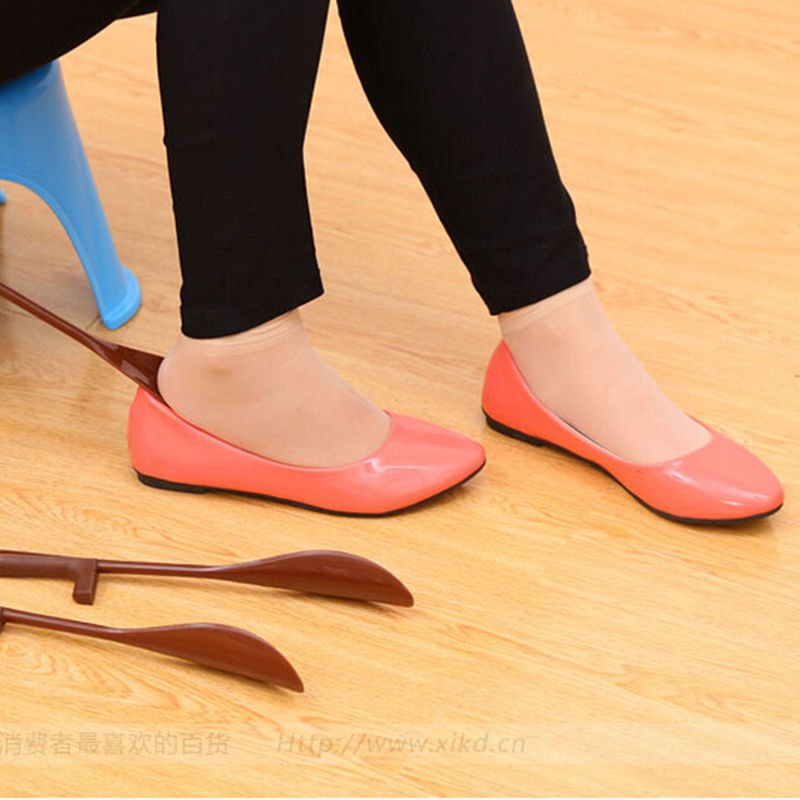 16/30cm Shoes Accessories Shoe Horn Hanging Lengthen PP TPE Shoehorn Long Shoe Horn For The Aged & Pregnant Woman Gifts modified motorcycle accessories refires horn trolley belt oil pump cnc general horn refires
