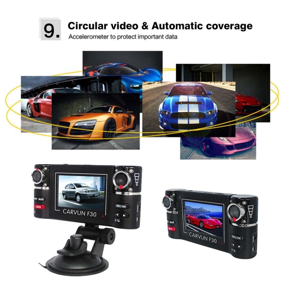цена на 2.7-inch TFT LCD Car DVR HD 1080P Dual Camera 180 Rotated Lens Vehicle Digital Video Recorder Night Vision Rear View Dash Cam