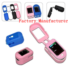 50pcs/lot Hot CMS50D Fingertip Pulse Oximeter Silicon Rubber Cover Waterproof CMS50DL Silicon Case Six Colors FreeShipping