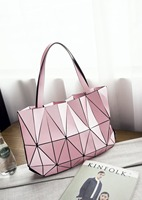 2017 Brand Women Fashion Triangle Laser BaoBao Bag Female Tote Diamond Geometry Quilted Handbag Mosaic Shoulder