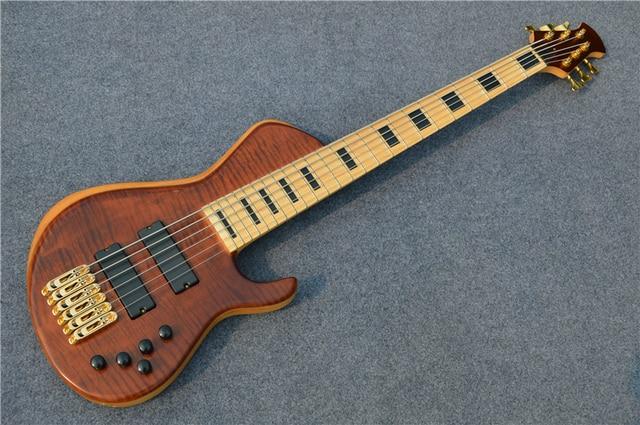 Custom Shop 6 String Bass Guitar - Maple Griffin Bass Guitars