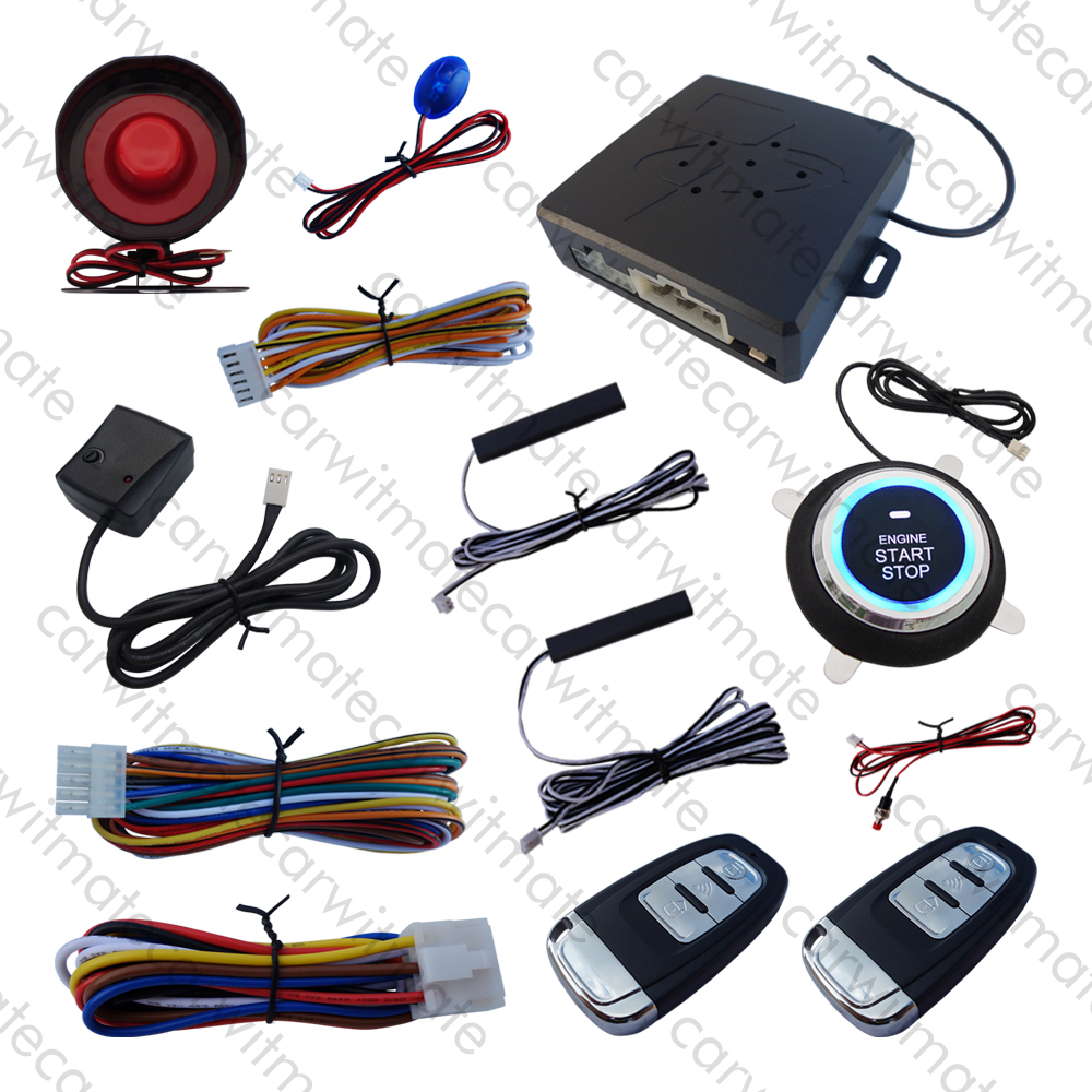 Système d'alarme Smartkey pour voiture PKE avec Vibration rappelant le Code de démarrage à distance pour démarrage à distance adapté aux voitures DC 12 V