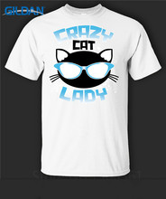 T Shirt Lowest Price 100% Cotton  O-Neck Short Sleeve Website Premium Crazy Cat Lady Glasses Graphic Mens Shirts