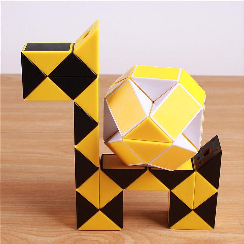 Viteza originală Magic Cube Șarpe Puzzle Ruler Twist 24 Blocuri - Jocuri și puzzle-uri - Fotografie 3