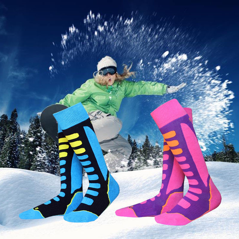 Thicken Cotton Unisex Kids Boys Girls Winter Sports Socks Warm Thermal Ski Snowboarding Socks Walking Hiking Stockings Warmer