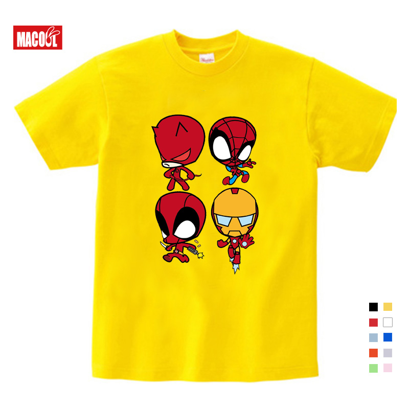 2019 T shirt Superman Batman spider Man captain America Hulk Iron Man T Shirt Boy Girls Printing T shirt 3T 9T in T Shirts from Mother Kids