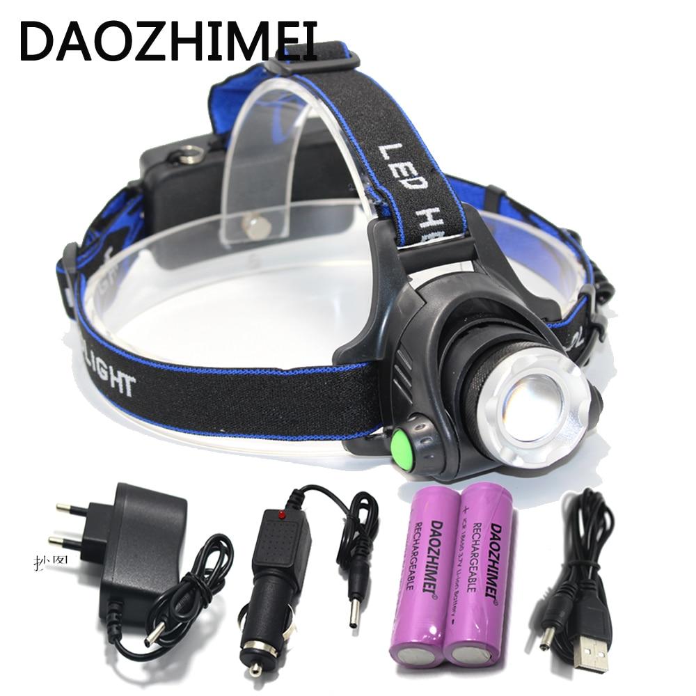 Lanterne LED del faro del CREE XM-L2 faro XML T6 impermeabile lanterne testa lampada frontale testa della torcia 18650 batteria ricaricabile