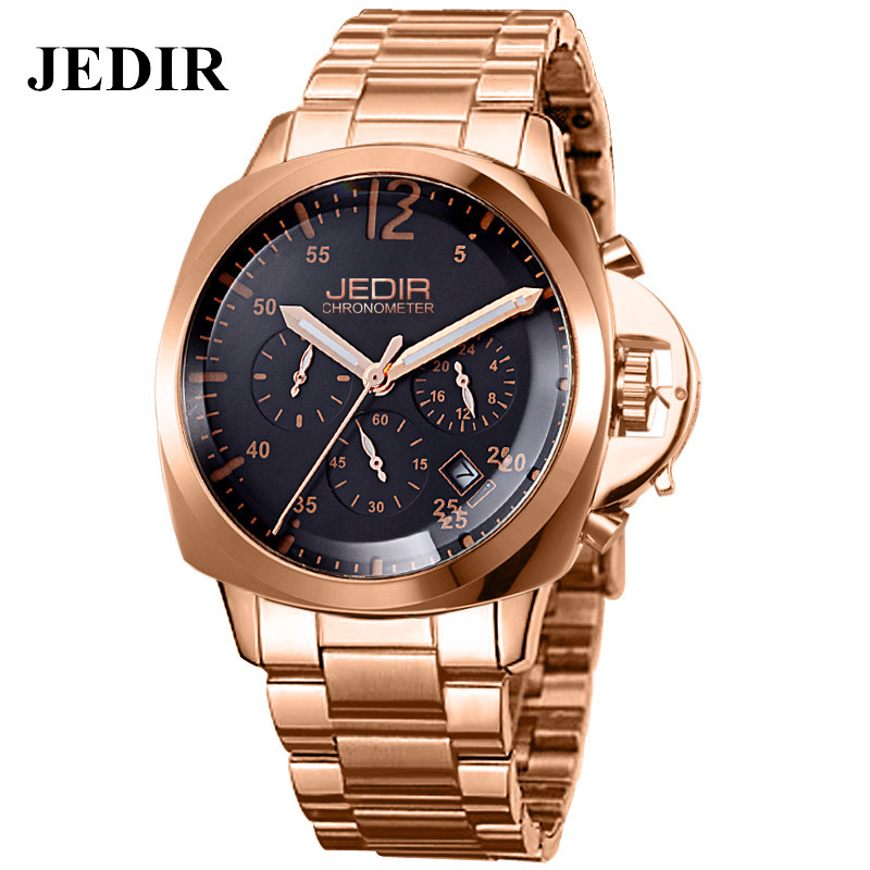 JEDIR 2016 Original Luxury Full Steel Men s Business Watches Fashion Man Quartz Wrist Watch Waterproof