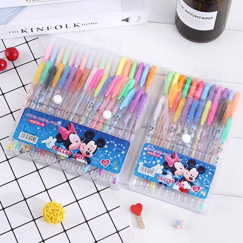 36 colors sketch pen marker painting drawing stationery color brush pen kawaii Art markers stationery crafts brush pens set Gift free shipping creative lovely stationery color neutral pen sets 0 38mm 12 color painting copic marker pen papelaria stabilo 010