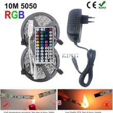 SMD 5050 60 светодиодный s/m 5 м 10 м RGBW RGBWW RGB Светодиодная лента освещение светодиодный Диодная лента DC 12 В адаптер Набор светодиодных лент