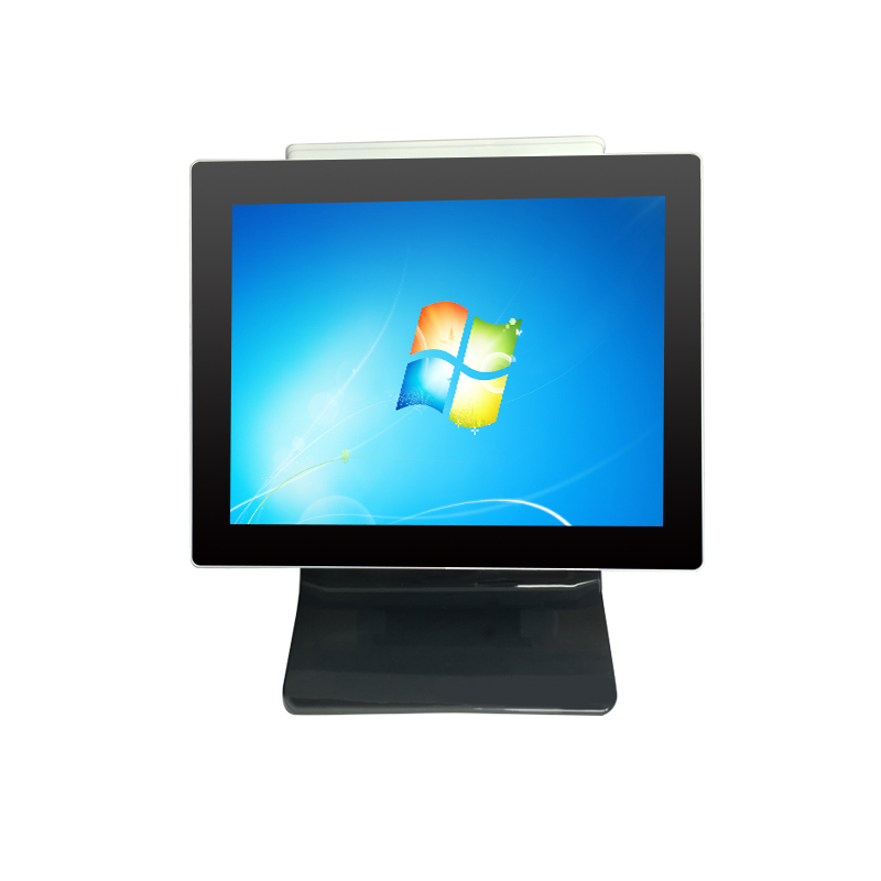 15 Inch Pos All In One Desktop Computer With VFD Display Touch Pos Terminal