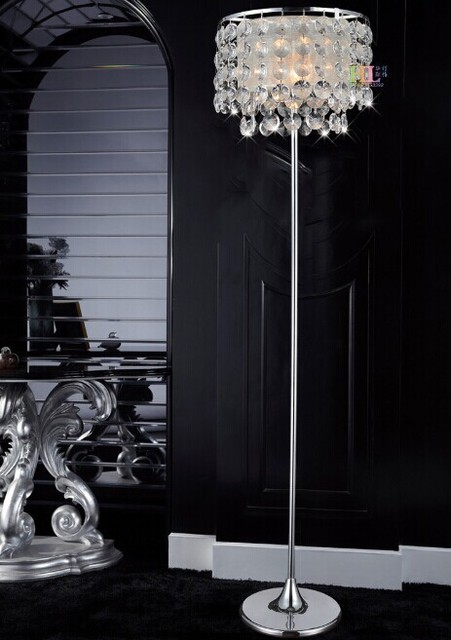 buy top k9 crystal floor lamp art deco. Black Bedroom Furniture Sets. Home Design Ideas