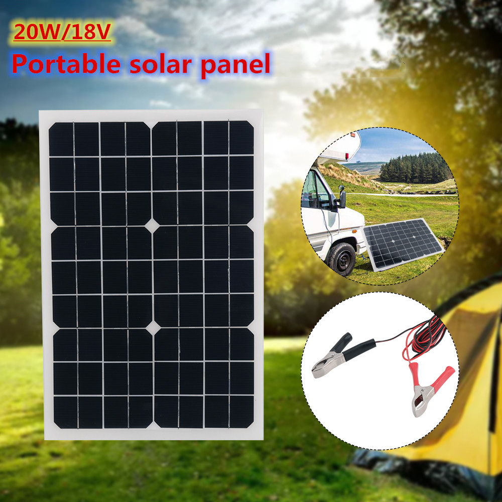 Chargeur solaire Flexible de rendement élevé de panneaux solaires de 20W18V pour le Camping extérieur lumière LED/téléphone portable/PC