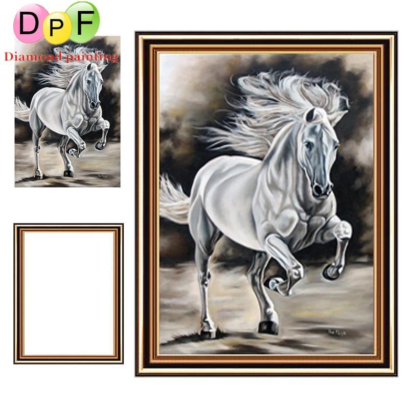 √DPF el caballo enmarcado pintura Bordado ronda completa Cuadros de ...