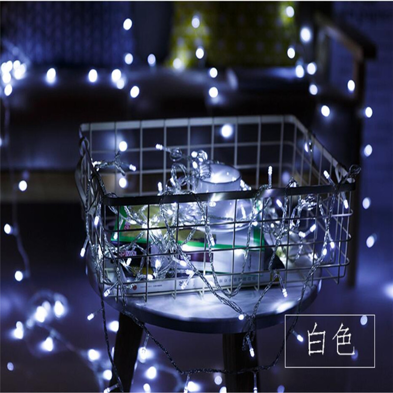 Outdoor Led String Lights 10M 80Leds Waterproof Led Holiday Strip Lamp Beads Wedding Christmas tree New Year Garden Decoration