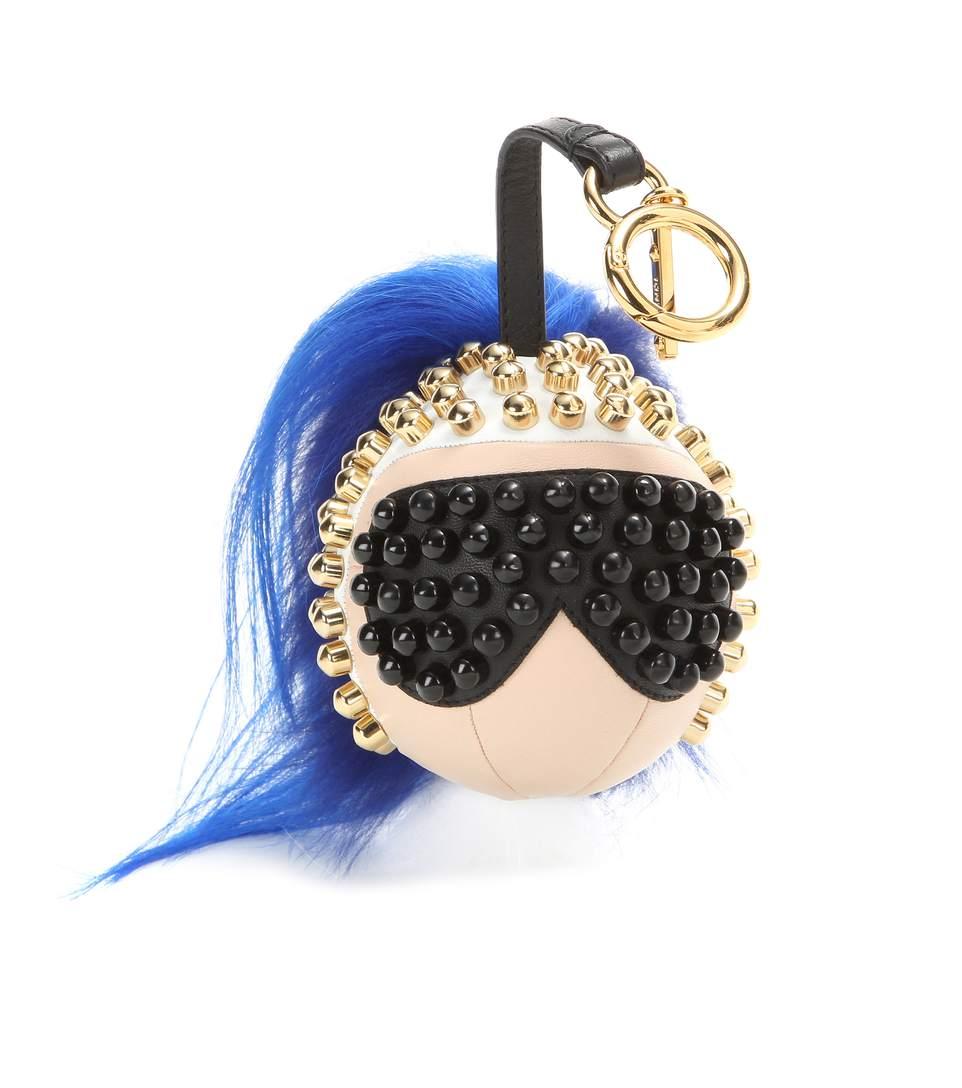2016 fashion Galeries Lafayette Monster Bag Charm font b Keychain b font Fur Pom British Luxury