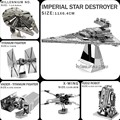 2016 NEW Star Wars модель 3D металлические головоломки DIY Лобзики R2D2/X-Wing/TIE Fighter/Робот/головоломки оптовая 7 модели = 1 Продукта