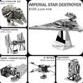2016 NOVOS Star Wars R2D2 modelo 3D puzzles de metal DIY Quebra-cabeças/X-Wing/TIE Fighter/Robô/Puzzle atacado 7 modelos = 1 Do Produto