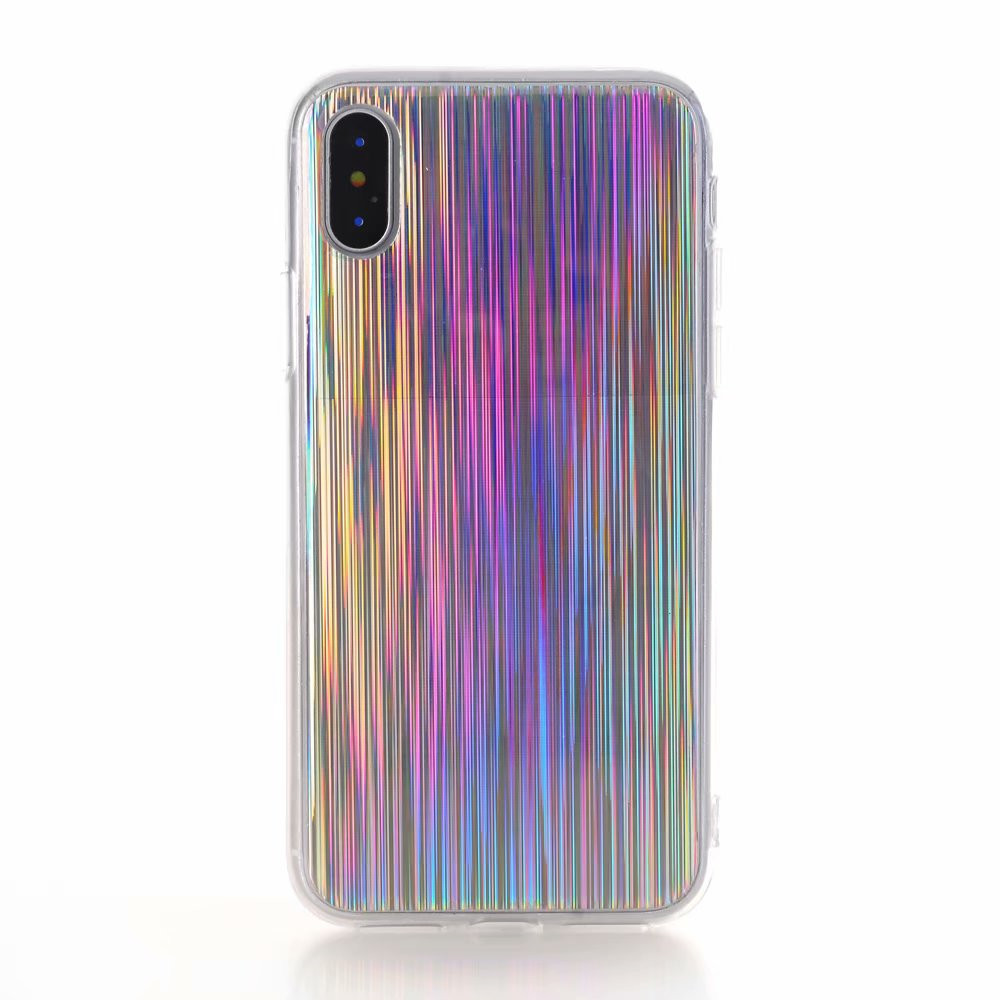 Fashion Glitter Holographic Laser TPU Case for iPhone X 7 8 6 6s Plus Sparkle Silicone Case Macia Capa for Samsung S8 S9 Plus