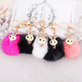 Keychain Cute Rabbit Fur Ball Key Chain For Car Key Ring Car Ornaments Chaveiro Llavero Llaveros Mujer Chaveiro Carro