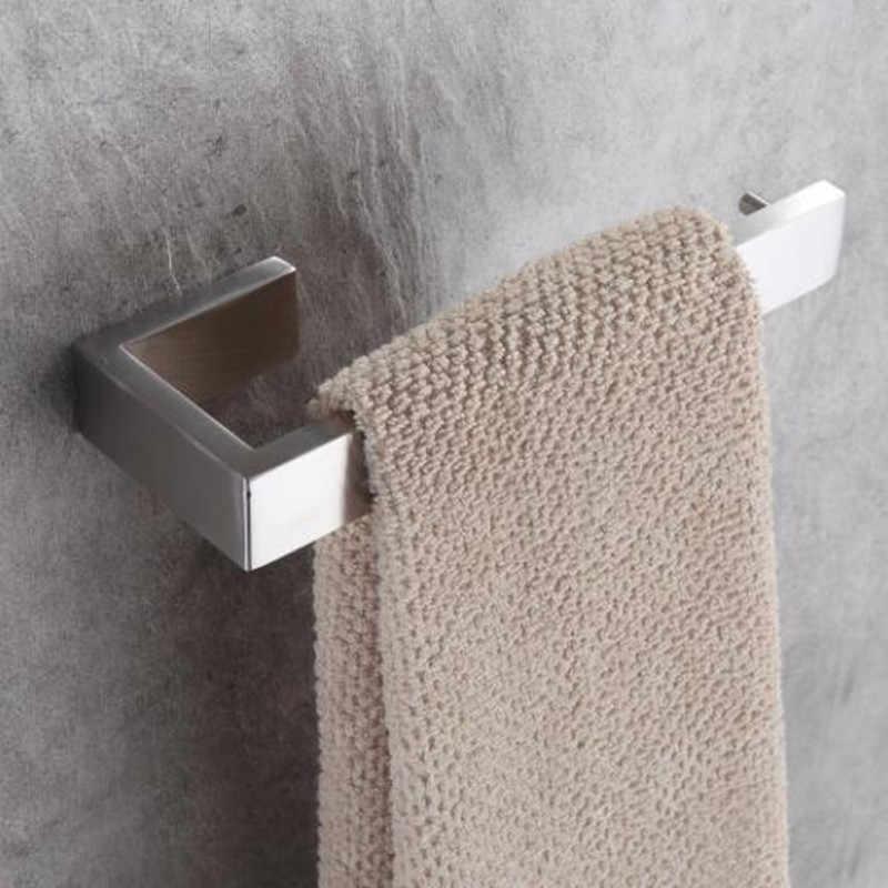 LIUYUE zestawy sprzętu do kąpieli ze stali nierdzewnej matowy nikiel ścienny wieszak na ręczniki ręcznik łazienkowy podwójne haczyki uchwyt na rolkę papieru