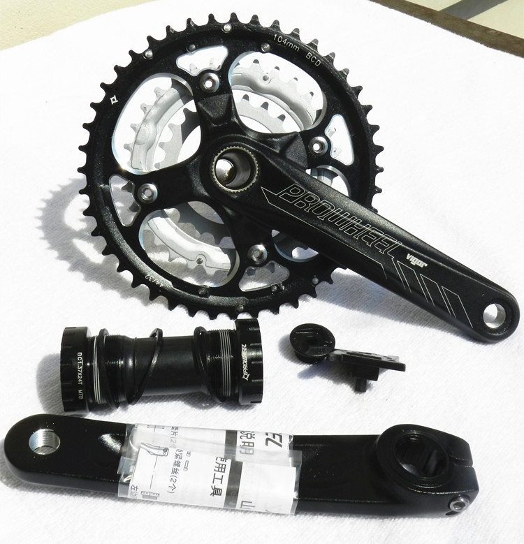 Original Prowheel Vigor 451 401 MTB Mountain Bike Crankset 7 8 9 Speed Better Than M610 Bicycle Crank Chainwheel prowheel chariot 53t folding bike road bike crankset 170 crank bicycle chainwheel 170l 170mm for sp8 8s 9s speed