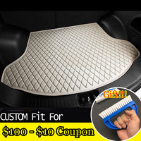 fit car trunk mat for Hyundai ix25 ix35 Elantra SantaFe Solaris Tucson verna Veloster car styling tray carpet cargo liner