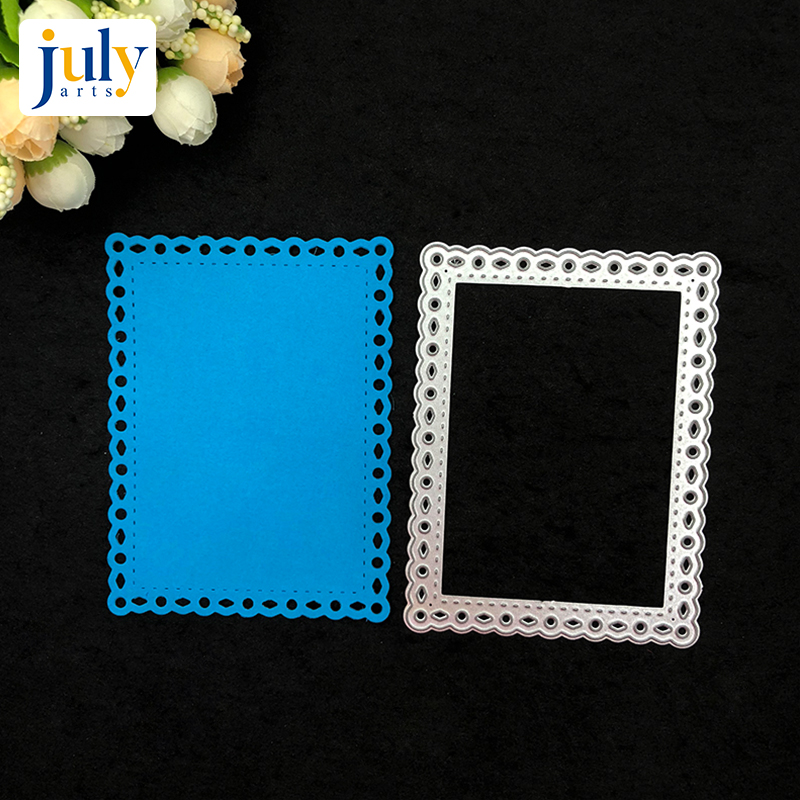 Julyarts Cutting Dies Silver Rectangle Scrapbooking for Handwork Gift Creative Carbon Steel Material