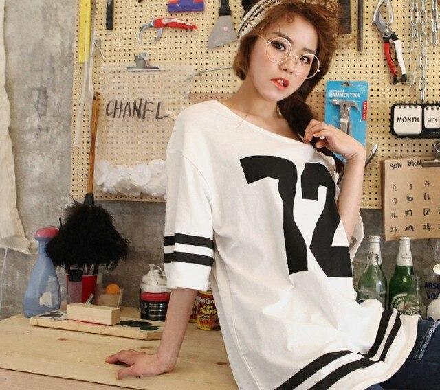 234eeaad15 fashion women 2014 clothes The Korea dabagirl spring digital leisure loose  long short sleeved T-