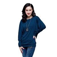 Women Big size New 2017 plus size 3xl 4XL 5xl T shirt t-shirts for women fashion Loose Korean Batwing sleeve femme T shirt