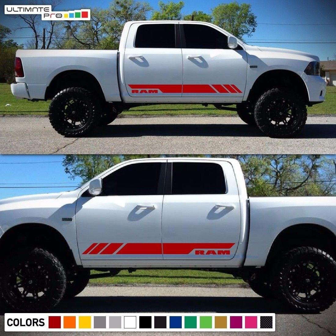 "Dodge Ram Graphic Sticker Vinyl Decal  4/"" Truck Auto Vehicle Graphics New"