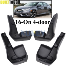 For Honda Civic 2016 2017 2018 2019 All New 4 Door Sedan Mudflaps Mud Flap Flaps Splash Guard Mudguards Front Rear Fender Molded