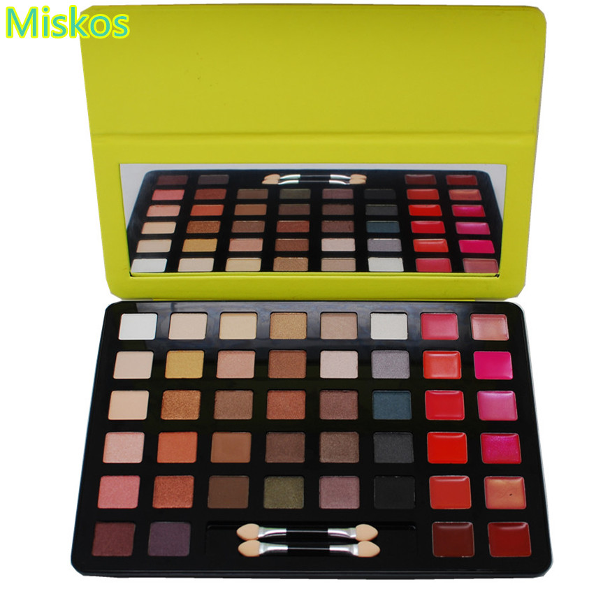 Makeup Palette Eyeshadow Palette Set Eye shadow Lip Face Colour Palettes With Two Brushes Glance Of Beauty Cosmetics Make Up 1 pc eyeshadow brushes sponge portable cosmetics makeup eye shadow eyeliner lip brush applicator for women beauty maquillage z35