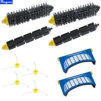2 Blue AeroVac Filter 2 Set Main Brush Kit 4 Sidebrush For IRobot Roomba 600 All