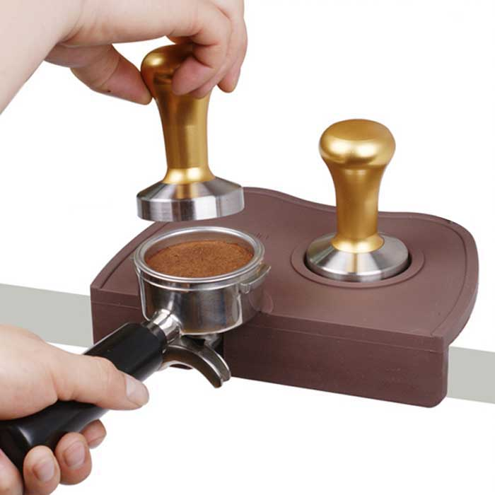 New Barista Coffee Espresso Portafilter Tamper Tamping Mat Holder Silicone Pad Mat-in Tool Parts ...