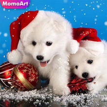 MomoArt 5D Diamond Painting Dog Mosaic Full Square Rhinestone Diy Embroidery Animal Home Decoration
