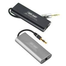 цена на Mini Portable HIFI Headphone Amplifier Professional 3.5MM Headphone Audio Amplifier for Mobile Phones Accessories