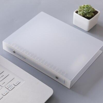 Transparent PP Plastic Spiral Notebook Cover B5/A5 Binder Planner Cover Loose Leaf book Cover Black/White Color цены