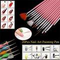 20 Unids Belleza Nail Art Design Set Puntea Dibujo Pintura Polaca Brush Pen Herramientas