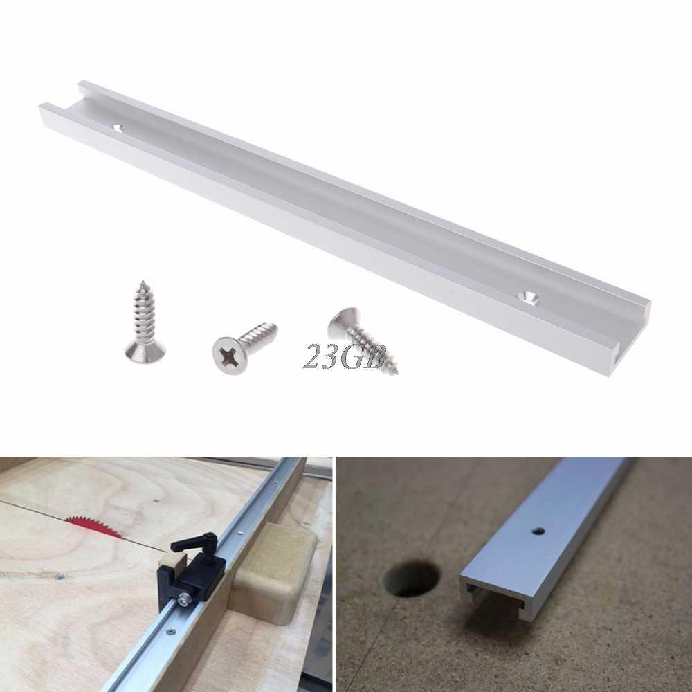 Liga de alumínio T-track Tabela do Router De Madeira T-slot Mitra Pista Jig Fixação M24
