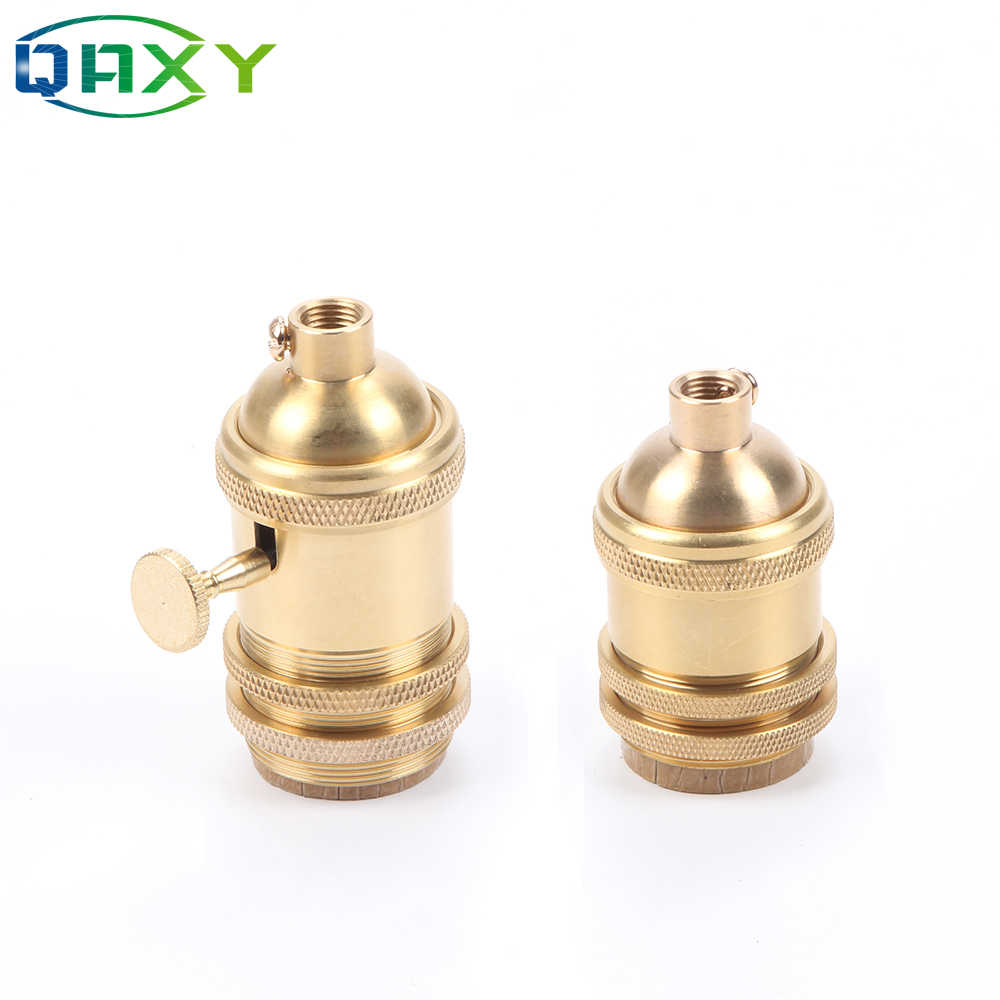 Free Shipping Vintage E27&E26 Brass Lamp Base/Holder Retro Holder DIY Lamp Socket For Pendant Lamp Table Light Wall Lamp[D2528]