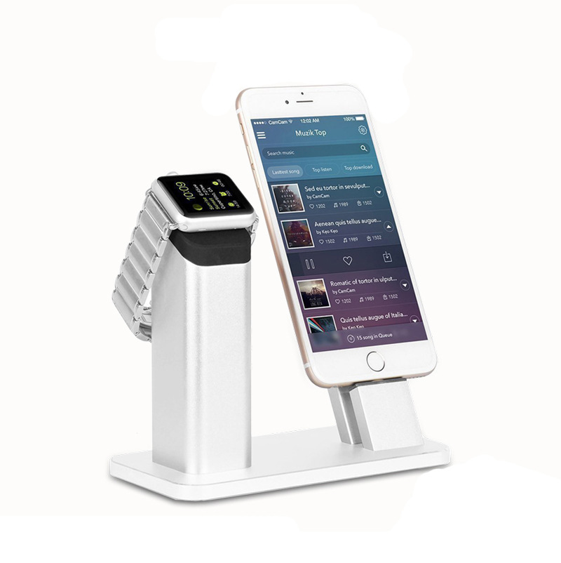 Fashion 2 in1 Charging Dock for Apple watch Aluminum Desktop Bracket Stand for iPhone se 6 / 6S / 7 plus phone holder studies on grafting in some vegetable crops