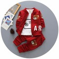4-24M 2016 Baby Boy Clothes Set For Boys Children Toddler Boy Baby Clothes Baby Tracksuit Outfits Sports Suit Baby Sets 3pcs