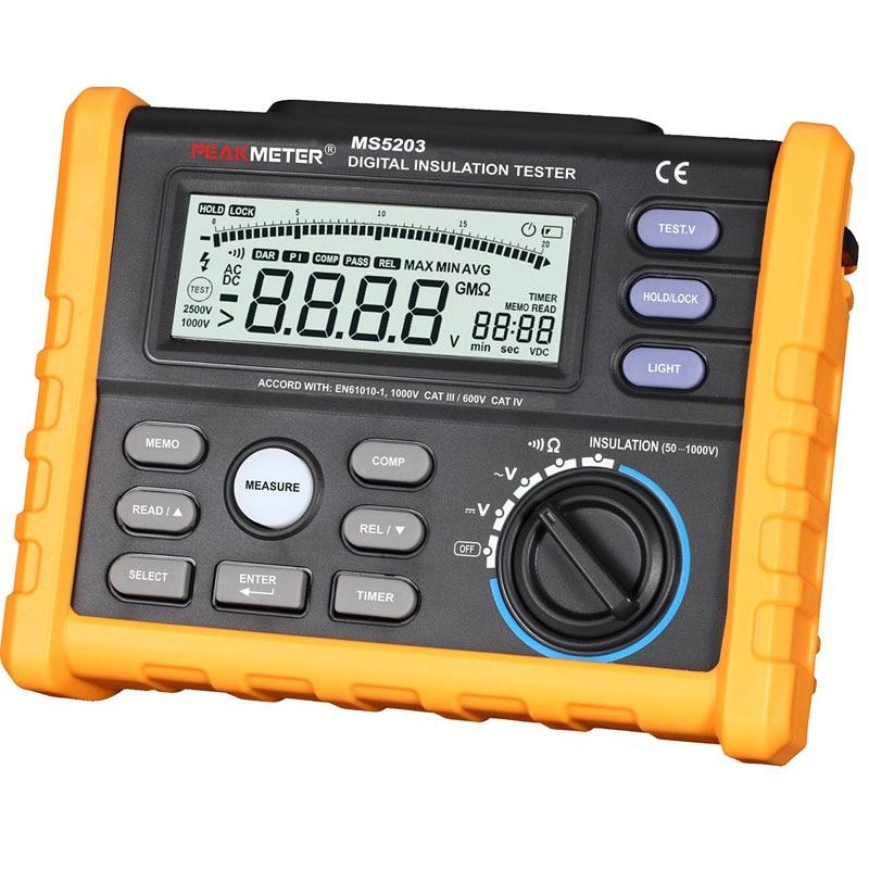 MS5203 Digital Insulation Resistance Meter Tester Multimeter Megohm Meter 0.01-10G ohm HV meter vs FLUKE F1520  stc диана 5203
