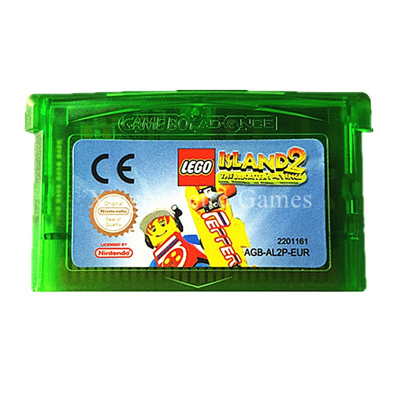 Nintendo GBA Game Lego Island 2 Video Game Cartridge Console Card EU English Language
