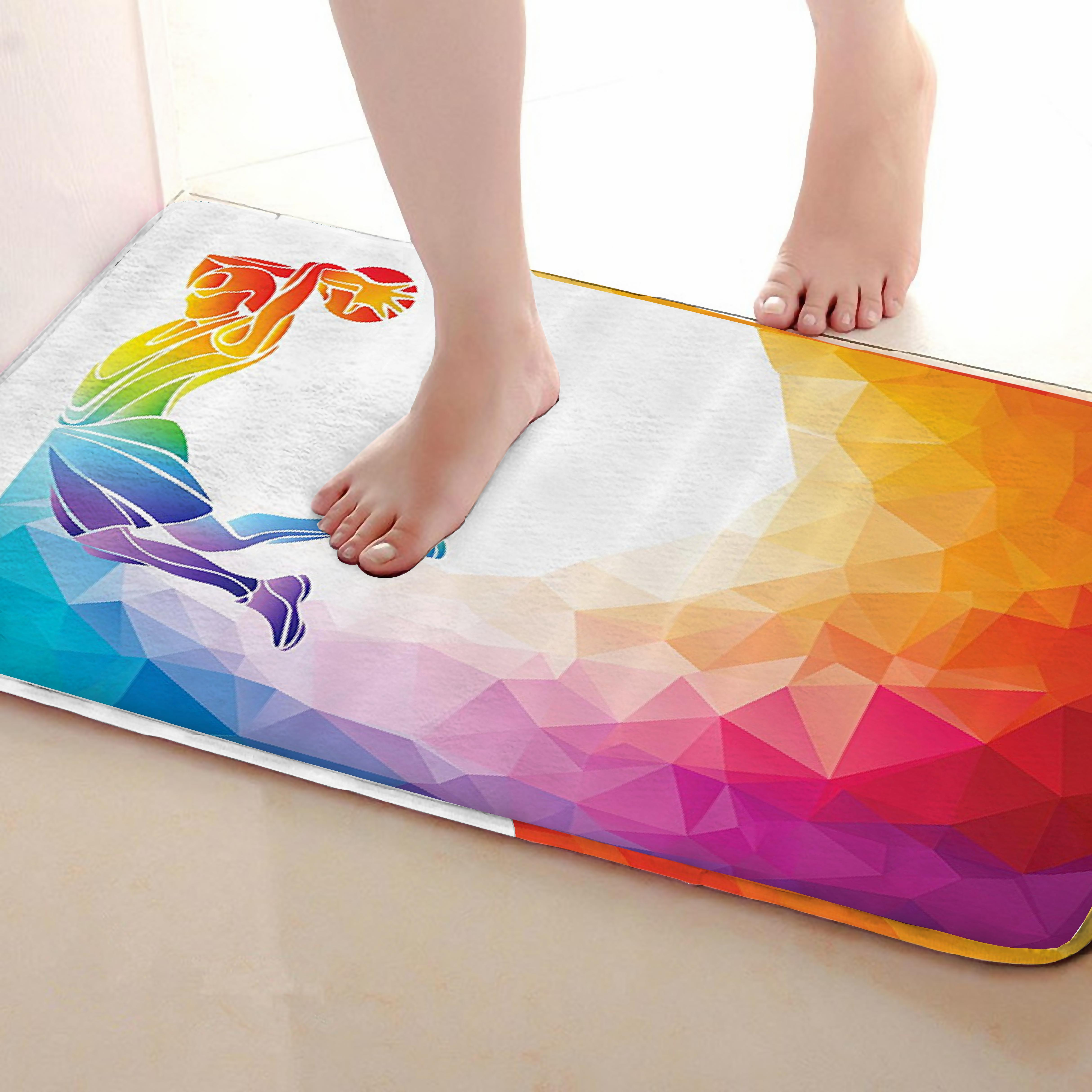 Shoot Style Bathroom Mat,Funny Anti skid Bath Mat,Shower Curtains Accessories,Matching Your Shower Curtain