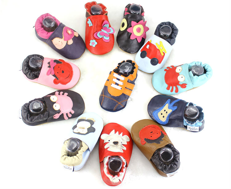 Free Shipping Genuine Leather Baby Shoes 2018 Moccasin Newborn Shoes Soft Infants Crib Shoes Sneakers First Walker free shipping