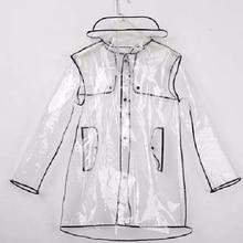 Long Raincoat Lluvia Women Waterproof Jacket Outdoors EVA for Windbreaker with Belt Capa