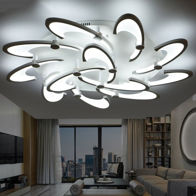 LED living room ceiling lamp Atmospheric Flower Art Creative Romantic Bedroom Study Aisle Ceiling Lights Commercial lighting